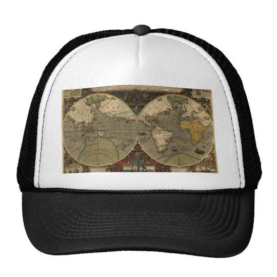 Antique World Map Trucker Hat