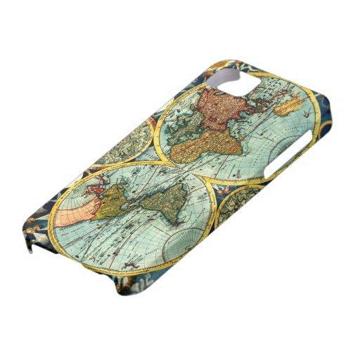 Antique World Map Vintage Globe Art Iphone Case iPhone 5 Case