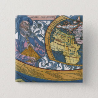 Antique World Map with Claudius Ptolemy, 1507 Pinback Button