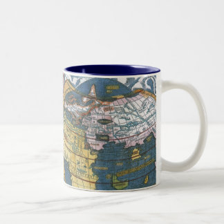 Antique World Map with Claudius Ptolemy, 1507 Two-Tone Coffee Mug