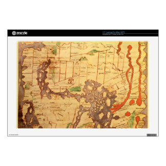 "Antique world maps 17"" laptop decal"