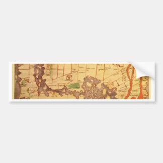 Antique world maps bumper sticker