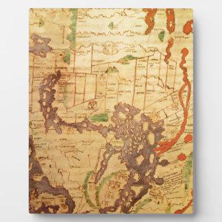 Antique world maps photo plaques