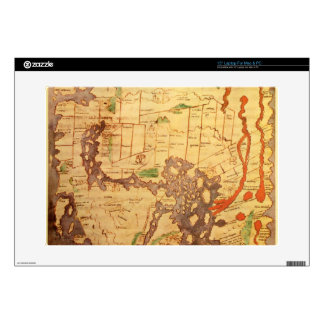 Antique world maps skin for laptop