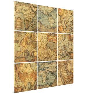 Antique World Stretched Canvas Prints