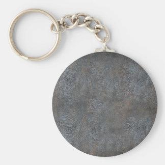 Antique Worn Book Leather Keychain