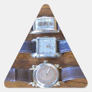 Antique Wrist Watches Triangle Sticker