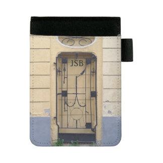 Antique Wrought Iron Gate Custom Initials Mini Padfolio