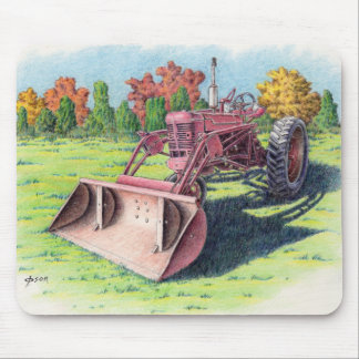 Antique Yard Tractor Mouse Pad