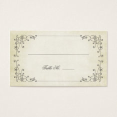 Antiqued Affair Guest Escort Cards at Zazzle