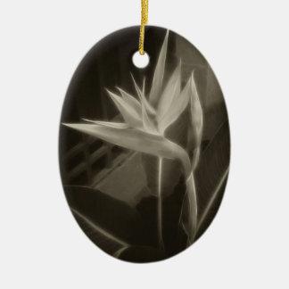 Antiqued Bird of Paradise 10 Ceramic Ornament