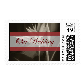 Antiqued Bird of Paradise 10 Our Wedding Postage Stamp