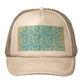 Antiqued Blue Paisley Hat