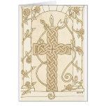 Antiqued Celtic Serpent Cross card