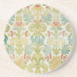 Antiqued Damask Coasters