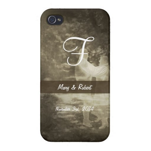 Antiqued Linger in the Moonlight Monogram iPhone 4/4S Cover
