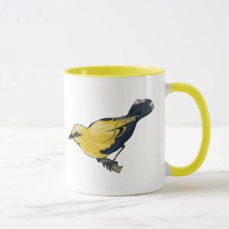 Antiqued Oriole Bird Mug