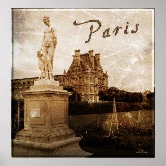 Antiqued Paris, France Poster