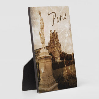 Antiqued Paris standing plaque