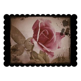 Antiqued Valentine Rose 5x7 Paper Invitation Card