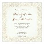 Antiqued Victorian Rose Wedding Invitation