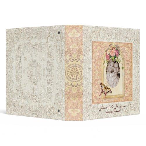 Antiqued Victorian Rose Wedding Scrapbook Binder binder