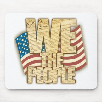 Antiqued WE THE PEOPLE Mousepads
