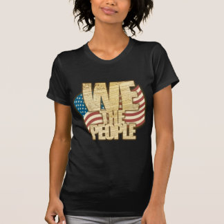 Antiqued WE THE PEOPLE with American Flag Tee Shirt