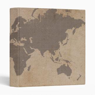 Antiqued World Map Binder