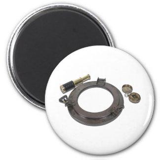 AntiquePortholeTelescopeSunDial110510 2 Inch Round Magnet