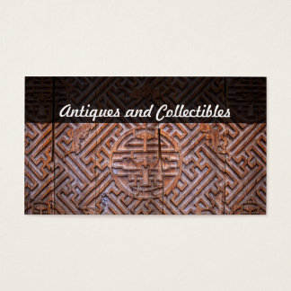 antiques and collectibles business card
