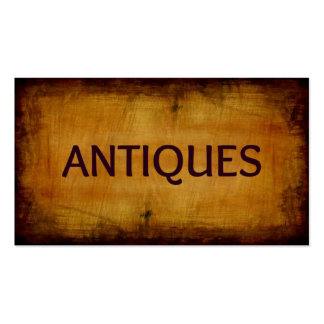 Antiques Brushed Antique Business Card