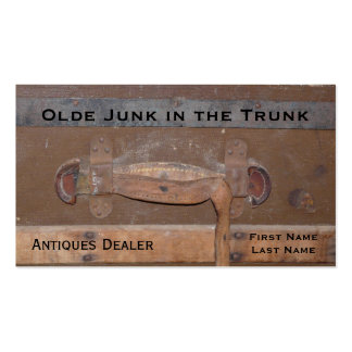 Antiques Dealer Vintage Trunk of Treasures Double-Sided Standard Business Cards (Pack Of 100)
