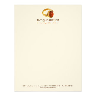 Antiques or Jewelry  Business Letterhead