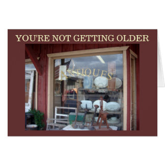 """Antiques"" Photo Birthday Card"