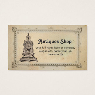 antiques shop or collectibles business card