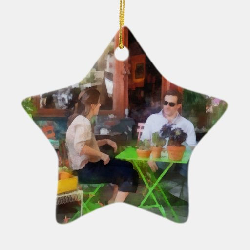 Antiques to Sandwiches Double-Sided Star Ceramic Christmas Ornament