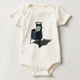 AntiqueWashingMachineMoney011815.png Baby Bodysuit