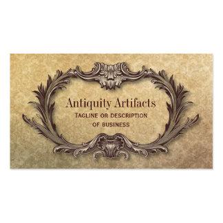 Antiquity Parchment Damask Business Cards