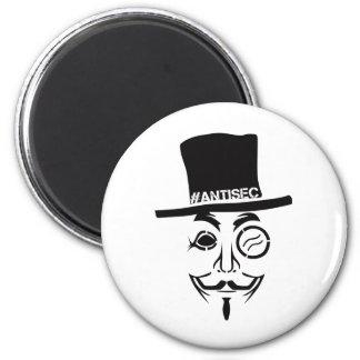 AntiSec AntiSecurity Hacker Logo 2 Inch Round Magnet