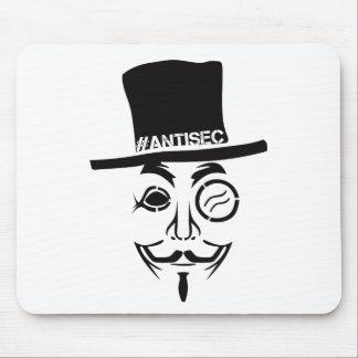 AntiSec AntiSecurity Hacker Logo Mouse Pad