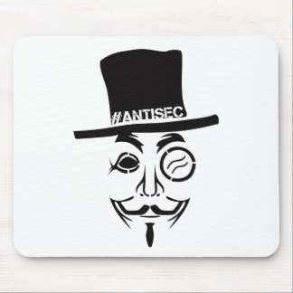 AntiSec AntiSecurity Hacker Logo Mouse Pad
