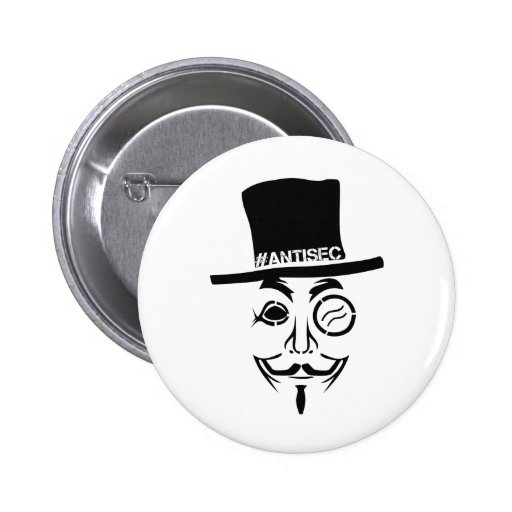 AntiSec AntiSecurity Hacker Logo Pinback Button