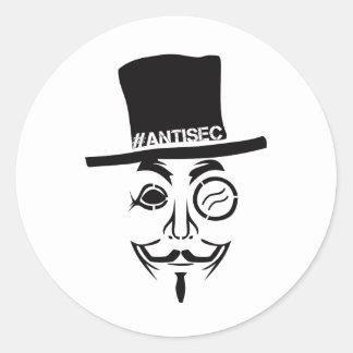 AntiSec AntiSecurity Hacker Logo Round Sticker