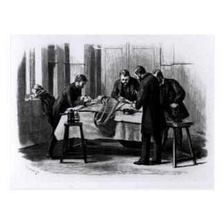 Antiseptic Surgery, 1882 Postcard