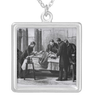 Antiseptic Surgery, 1882 Silver Plated Necklace