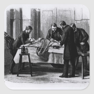 Antiseptic Surgery 1882 Square Stickers