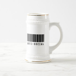 antisocial barcode design coffee mug