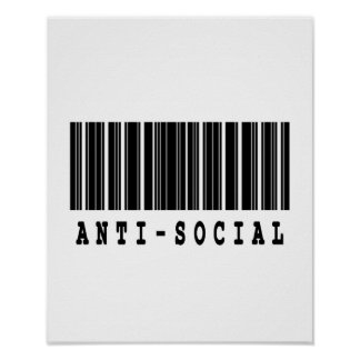 antisocial barcode design poster