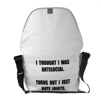 Antisocial Idiots Messenger Bag